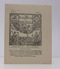 The Reading Mercury or Weekly Entertainer. Vol. I. Numb. 1 Monday July 8 1723. [Facsimile reissue].