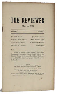 image of THE REVIEWER: May 1, 1921 (Volume 1, Number 6)