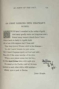[Binding, Fine- Author's Copy, with Correction] English Sonnets. By Poets of the Past