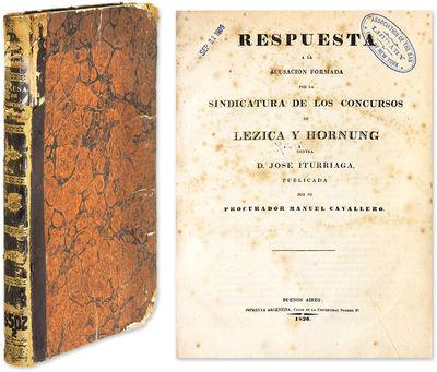 1836. Buenos Aires: Imprenta Argentina, 1836.. Buenos Aires: Imprenta Argentina, 1836. Notable Fraud...