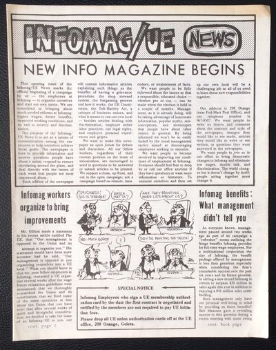 Goleta, CA: , 1975. First issue of the 4-page, 8.5x11 inch newsletter from the campaign to establish...