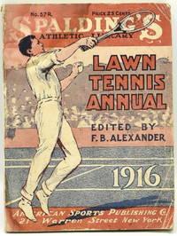 [TENNIS] SPALDING'S LAWN TENNIS ANNUAL 1916
