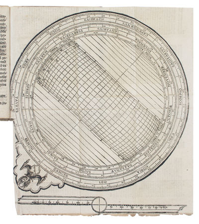 Each title within the same architectural woodcut border, two folding woodcut plates in the second pa...