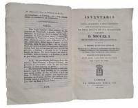 Inventário do Casco, Aparelhos e mais utensílios assim de uso como de sobrecellentes da Real escuna de Sua Magestade o Senor D. Miguel I [...]