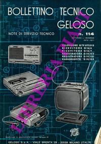 Bollettino tecnico Geloso. by Geloso - - from Libreria Piani già' Naturalistica snc and Biblio.com