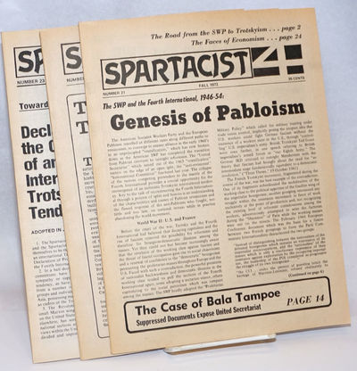 New York: Spartacist, 1977. Four issues of the Spartacist, 24, 32, 24, and 32 pages respectively, 8....