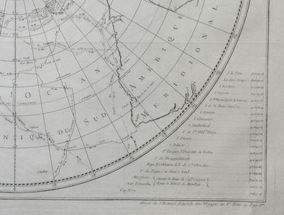Paris: Hôtel de Thou, 1780. First Edition. Map. Near Fine. ; A circular map of southern hemisphere,...