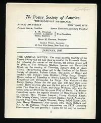 The Poetry Society of America Bulletin: January 1939
