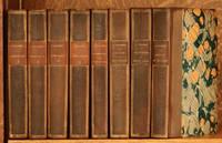 image of THE WORKS OF GUSTAVE FLAUBERT - 8 VOL. SET (INCOMPLETE) INCLUDES LA TENTATION DE SAINT ANTOINE, LETTRES A SA NIECE, PAR LES CHAMPS, BOUVARD ET PECUCHET, CORRESPONDANCE VOLS 1-4