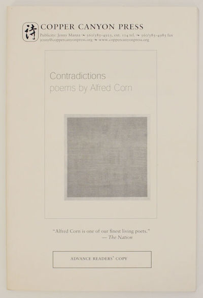 Port Townsend, WA: Copper Canyon Press, 2002. First edition. Softcover. Uncorrected proof of this co...