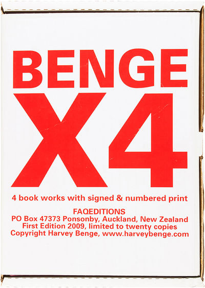 Auckland: FAQEditions, 2009. Print and all books uniformly fine, housed in publisher's printed cardb...