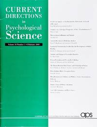 image of Current Directions In Psychological Science (Volume 18, Number 1, February 2009)