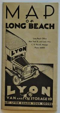 1932 Map of Long Beach - Lyon Van and Storage Co. by Noordwall & Son Mapmakers of Los Angeles - Paperback - 1932 - from Dale Steffey Books (SKU: 008916)