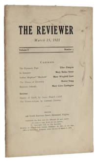 image of THE REVIEWER: March 15, 1921 (Volume 1, Number 3)