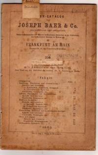 Catalogue 213/1888, Orientalia, Dr. G. Parthey