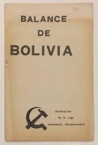 image of Balance de Bolivia: declaracion de la Liga Comunista Revolucionaria