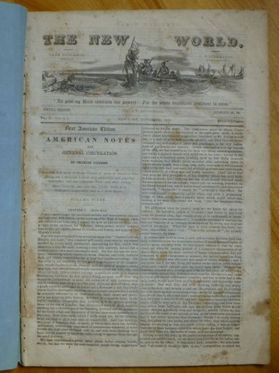 1842. First American Edition. New-York: J. Winchester, Publisher, November 1842. Original self-wrapp...
