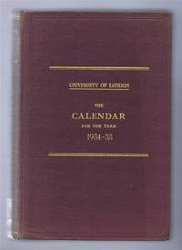 image of University of London, The Calendar for the Year 1934 - 1935