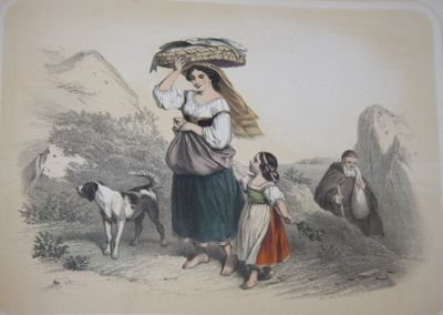 Paper pastedown on boards. Good Plus. N.d., circa 1850. Oblong, 22 by 34 cm. 20 tinted plates with p...
