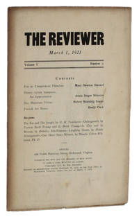 image of THE REVIEWER: March 1, 1921 (Volume 1, Number 2)