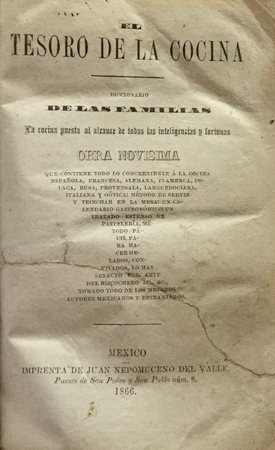 First edition. Not in standard sources, but mentioned in Janet Long, Conquista y Comida: Consequenci...