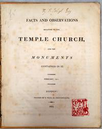 image of Facts and Observations Relating to the Temple Church, and the Monuments Contained in It