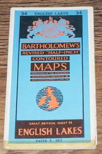"English Lakes (The Lake District) Bartholomew's Revised ""Half-Inch"" Contoured Maps, Great Britain Sheet 34"