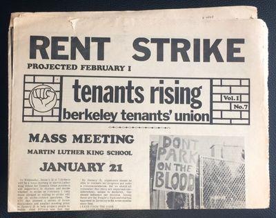 Berkeley: Berkeley Tenants Union, 1970. Newspaper. 8p., folded tabloid, paper toned, some edgewear. ...