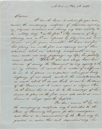 [AUTOGRAPH LETTER, SIGNED, FROM WILLIAM A. MENGER TO LOCAL ENROLLMENT OFFICER, F.B. FRENKEL, SEEKING AN EXEMPTION FROM CONFEDERATE MILITARY SERVICE DUE TO A MEDICAL CONDITION]
