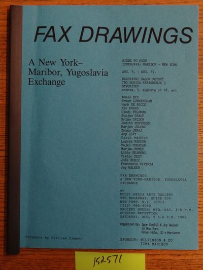 New York, NY: Multi Media Arts Gallery, 1989. Softcover. VG. Blue paper covers with black plastic sp...