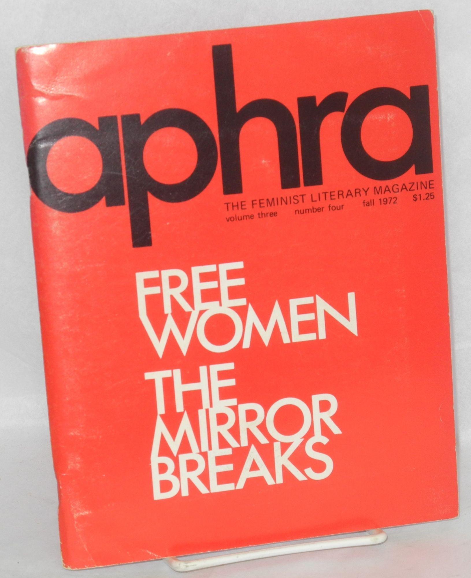 Aphra The Feminist Literary Magazine Volume 3 No 4