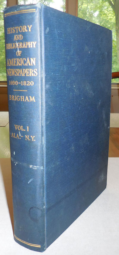 Worcester, MA: American Antiquarian Society, 1947. First edition. Cloth. Very Good. Large clothbound...