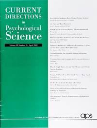 image of Current Directions In Psychological Science (Volume 18, Number 2, April 2009)