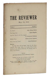 image of THE REVIEWER: May 16, 1921 (Volume 1, Number 7)