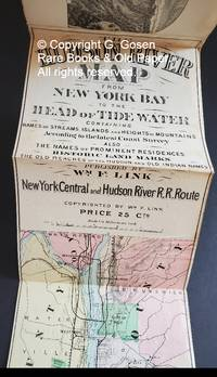 The Hudson River Map from New York Bay to the Head of the Tide W Containing Names of Streams, Islands and Heights of Mountains According to the latest Coast Survey, Also the Names of Prominent Residences, Historic Land Marks, the Reaches of the Hudson and Old Indian Names. Published by Wm. F. Link. New York Central and Hudson River R.R. Route. Copyrighted by Wm. F. Link. Price 25 Cts.