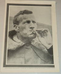 image of A vintage magazine photographic portrait of the AUSTRALIAN AVIATOR CHARLES KINGSFORD SMITH, who made the first Trans-Pacific flight from the United States to Australia.