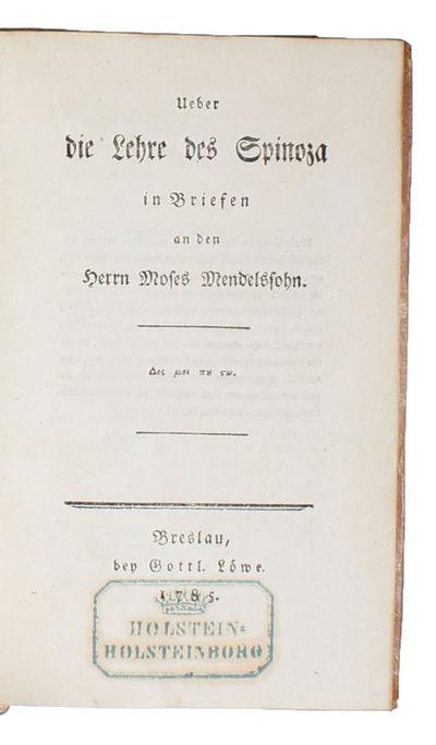 Ueber die Lehre des Spinoza in...