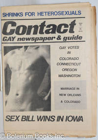image of Contact: gay newspaper & guide; #13, May 28, 1975: Sex Bill Wins in Iowa