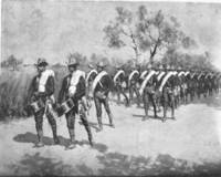 A Practice March in Texas - Drawn by Frederic Remington