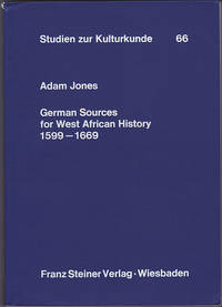 German Sources for West African History 1599-1669