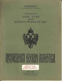 Catalogue of Good Icons and Russian Works of Art.  Monday 20th June 1977