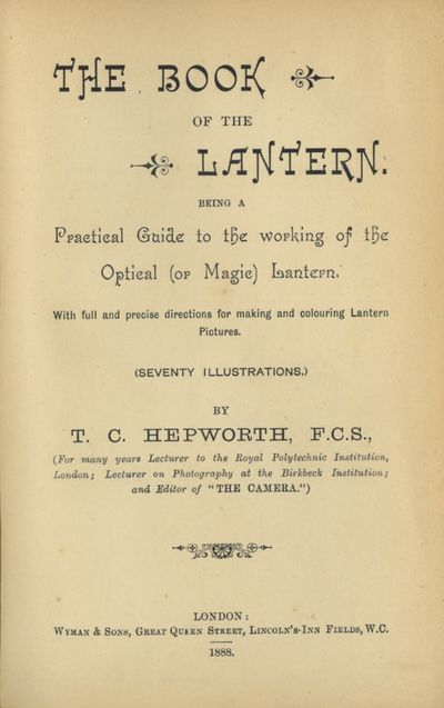 London: Wyman & Sons, 1888. First edition. 8vo., x, 278 pp., 32 adverts, engraved illustrations. Fro...