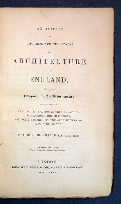 London: Longman Rees Orme Green & Longman, 1835. 4th edition, with additions. Original cloth with pa...