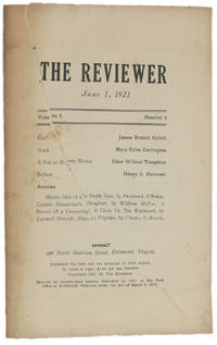 image of THE REVIEWER: June 1, 1921 (Volume 1, Number 8)