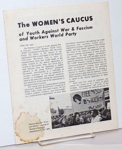 New York: Youth Against War & Fascism, . Four panel brochure introducing the caucus, 7x8.5 inches, s...