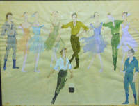 """Dances at a Gathering"" Watercolor painting of Eula's costume designs for New York City Ballet Master Jerome Robbins' 1969 ballet set to the music of Frédéric Chopin"