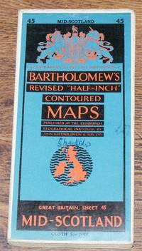 "Mid-Scotland - Bartholomew's Revised ""Half-Inch"" Contoured Maps, Great Britain Sheet 45"