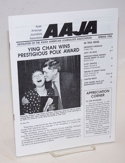 San Francisco: Asian American Journalists Association, 1994. 20p., 8.5x11 inches, very good. Include...