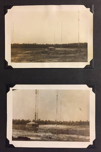 Photo album containing 82 mounted b/w photographs of 5 Radio Towers under construction