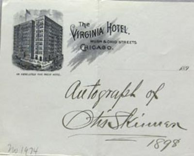 Chicago, IL: Virginia Hotel, 1898. Book. Very good+ condition. No Binding. Signed by Author(s). Firs...